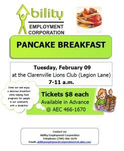 Pancake Breakfast Poster 2016